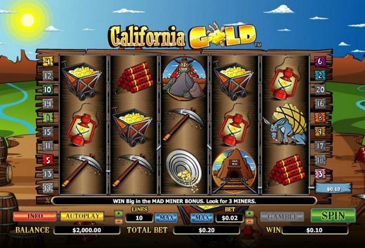 Spiele California Gold Rush - Video Slots Online