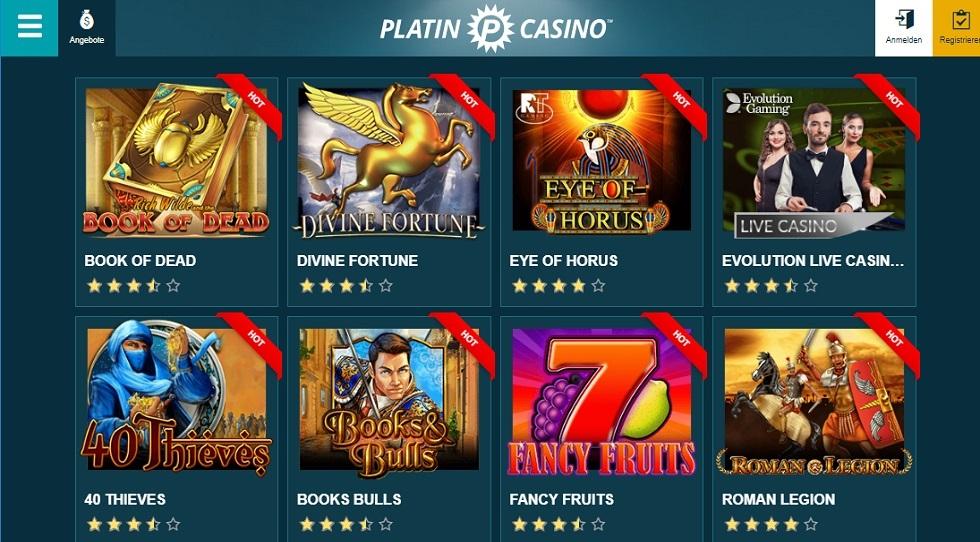 Platin Casino Login