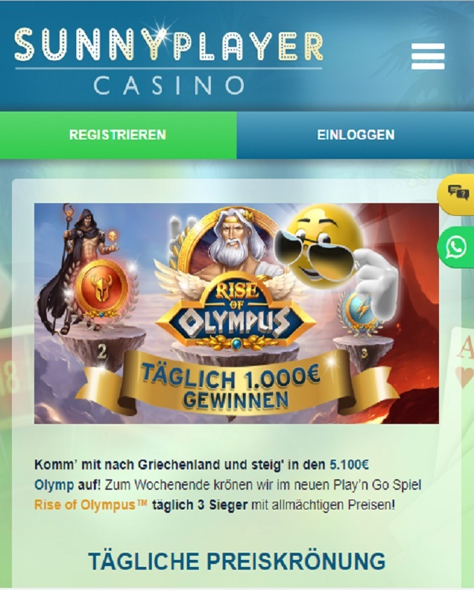 Boni und Promotionen bei Sunnyplayer Casino